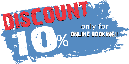 10% discount if you book online